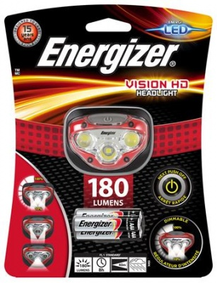 "Fejlámpa, 3 LED, 3xAAA, ENERGIZER ""Headlight Vision HD"""